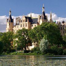 Viele traumhafte Landschaft in dem Barockschloss Moritzburg